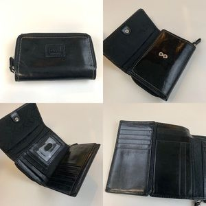 Fossil Bags - Fossil Women's Wallet Trifold Leather Solid Black